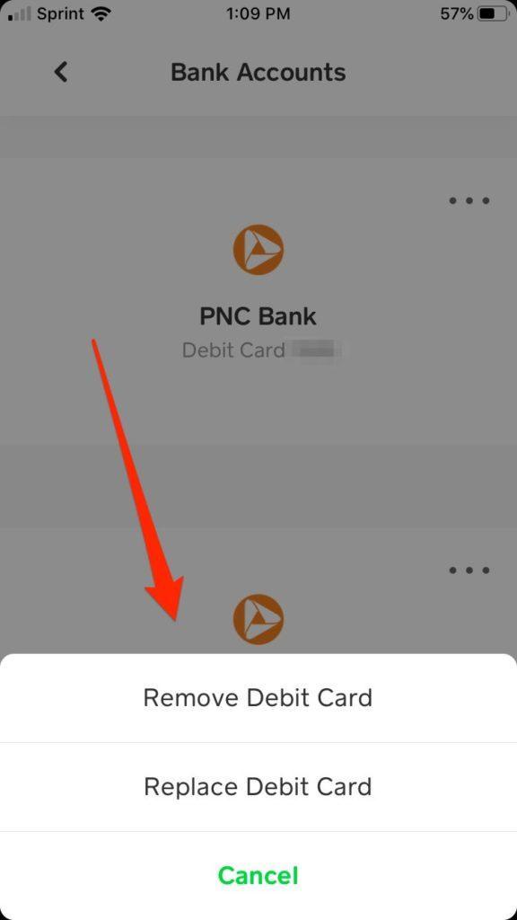 modify linked cash app bank account