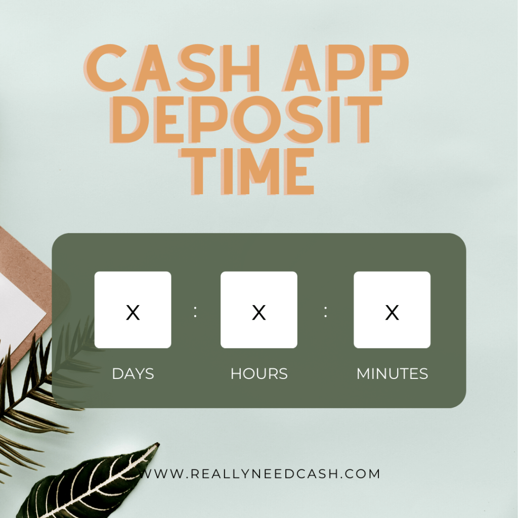 how long does it take cash app to deposit